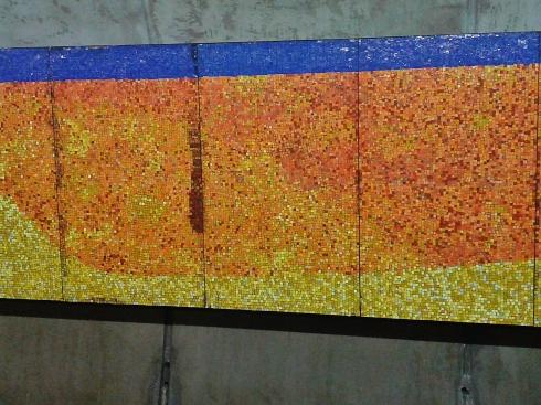 Detail, tiled panel