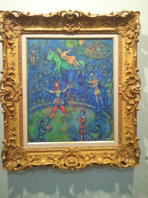 Chagall circus scene