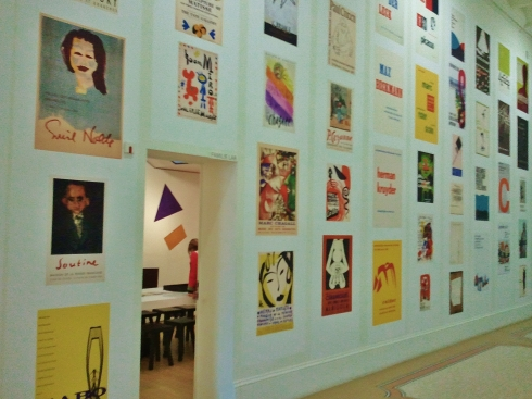 Posters of exhibitions at Stedelijk and other museums