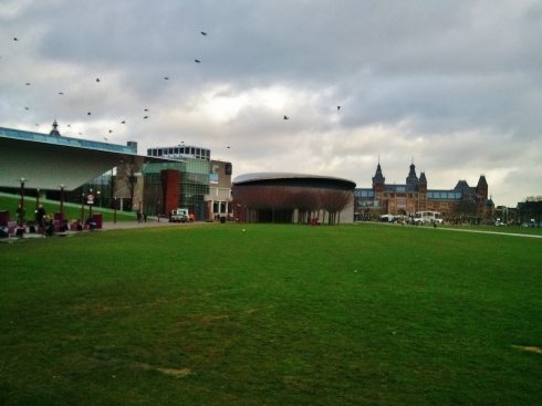 Museum Square - L to R Stedelijk, van Gogh and Rijksmusea