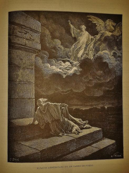 Elijah taken into Heaven