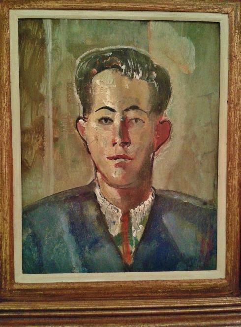 Portrait of a man, oil on wood, 1949